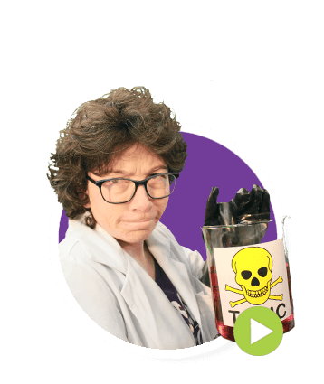 Prof Caroteen holding poisons